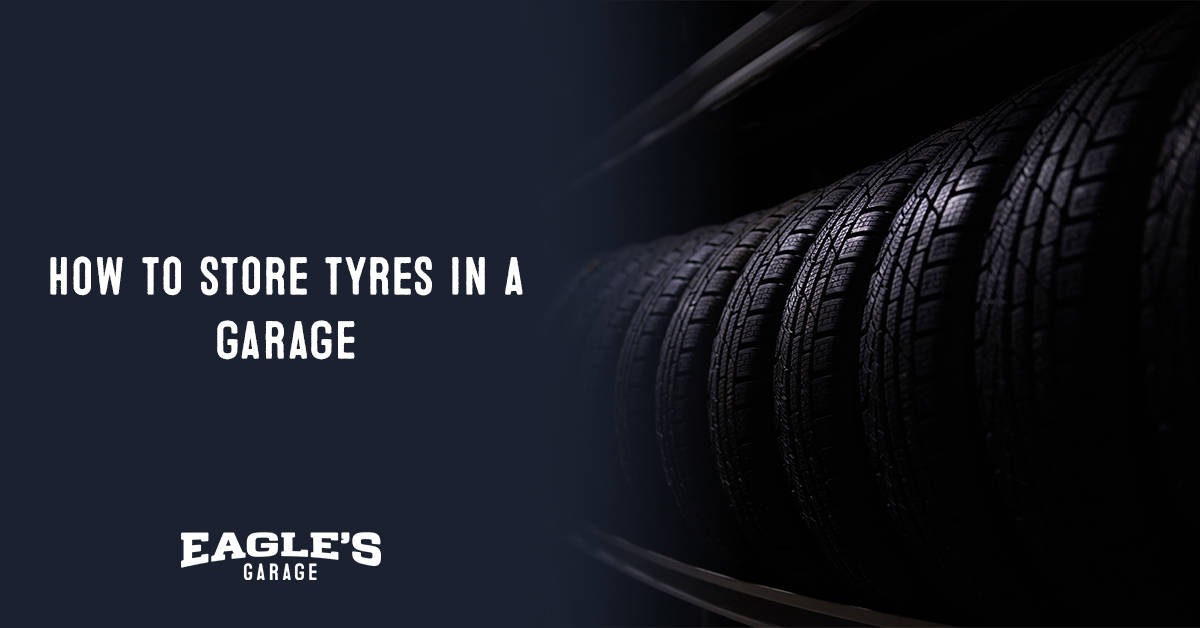how to store tires in a garage